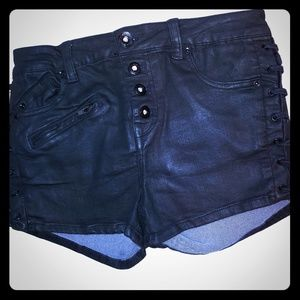 Free People Black Stretchy Shorts 26